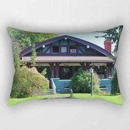 Old West End Blue 21 Rectangular Pillow