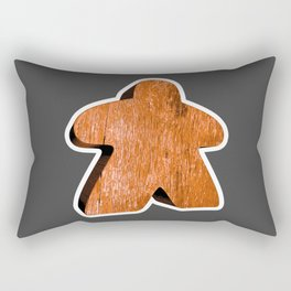 Giant Orange Meeple Rectangular Pillow