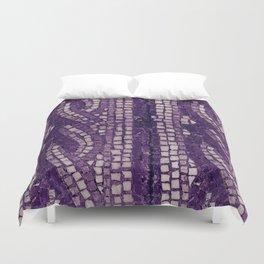stone tile 4378 ultra violet Duvet Cover