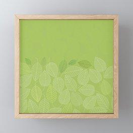 LEAVES ENSEMBLE GREENERY Framed Mini Art Print