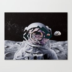 Spaceman oh spaceman, come rescue me (teal) Canvas Print