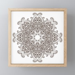 Mandala Bohemian Embellishments Medallion Framed Mini Art Print