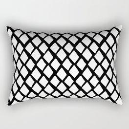 Rhombus White And Black Rectangular Pillow