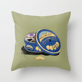 Sewing Kit Throw Pillow