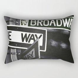 One Way to Broadway Rectangular Pillow