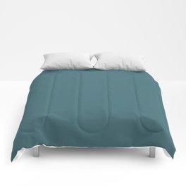 Solid Colors Series - Dark Desaturated Cyan Comforters