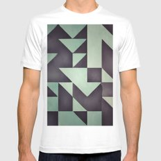 :: geometric maze VIII :: Mens Fitted Tee MEDIUM White