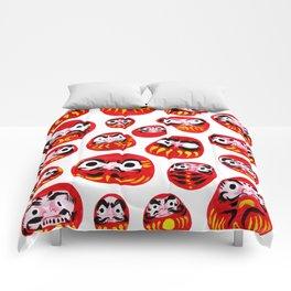 Japanese Daruma Characters Comforters