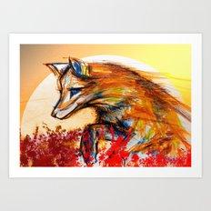 Fox in Sunset II Art Print