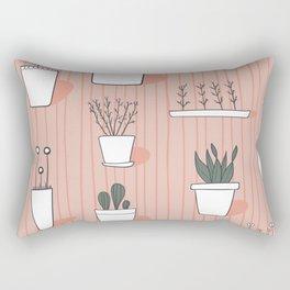 Peach Garden Pots Rectangular Pillow