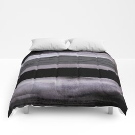 Dark shadow abstract painting Comforters