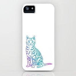 Rainbow Glitter Kitty iPhone Case