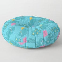 kites - blue Floor Pillow