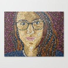 Vintage Scrabble Tile Portrait Canvas Print