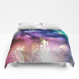 Pour your art out sunset Comforters