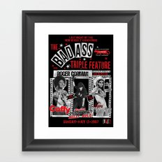 Triple Feature Framed Art Print