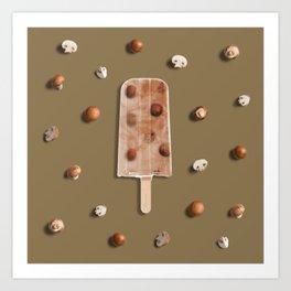 Mushroom Popsicle Art Print