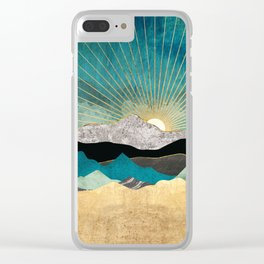 Peacock Vista Clear iPhone Case