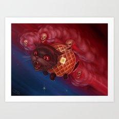 Tac Nayn a.k.a. Waffle Cat Art Print