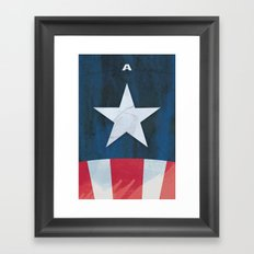 Captain America Minimal Framed Art Print