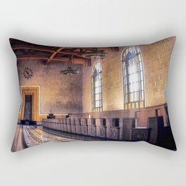 Los Angeles Union Station. Historic Ticket Counter. © J&S Montague. Rectangular Pillow