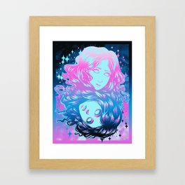 Two Faces - Color Framed Art Print
