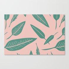 Leaves pink Canvas Print
