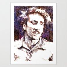 H. I. from Raising Arizona Art Print