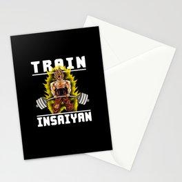 TRAIN INSAIYAN (Goku Deadlift) Stationery Cards