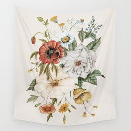 Wildflower Bouquet Wall Tapestry
