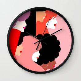 Girl Power we persist  #girlpower Wall Clock