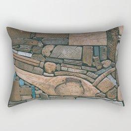 pieces of wood Rectangular Pillow