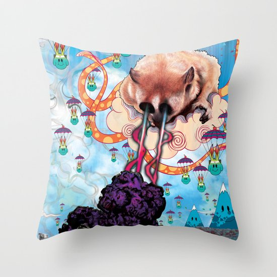 Attack of the Super Furry Animals! Throw Pillow