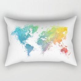 World Map splash 1 Rectangular Pillow