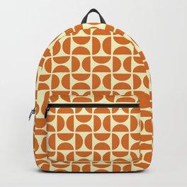 HALF CIRCLES, ORANGE Backpack