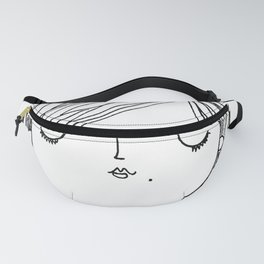 Pig Tail Girl Fanny Pack