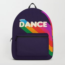 RAINBOW DANCE TYPOGRAPHY- let's dance Backpack
