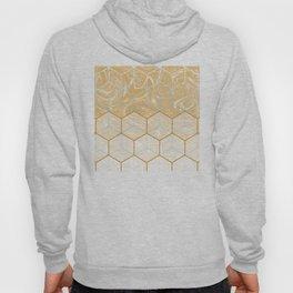 Geometric Effect Caramel Marble Design Hoody