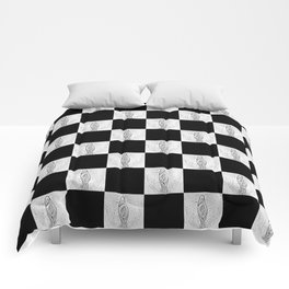 Checkerboard Pussy Comforters