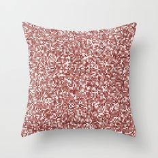 Pixel Hash / Digital Mince / Cubistic Hamburger Meat Throw Pillow