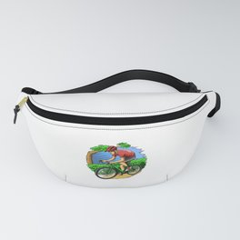 Athlete Riding Bicycle - Bike Racing Cyclist Fanny Pack