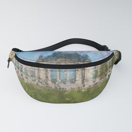 Reichstag, Berlin    /  impressionism style Illustration  / painting abstract landmarks drawing Fanny Pack
