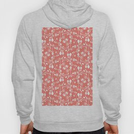 Salmon Pink Floral Pattern Hoody