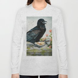 Breakfast With the Raven Long Sleeve T-shirt