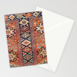 Southwestern Farmhouse V // 19th Century Colorful Red Yellow Blue Green Aztec Farm Stars Pattern Stationery Cards