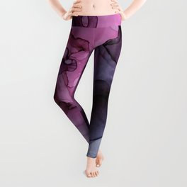 Abstract Ink Painting Ethereal Flowing Watercolor Nebula Leggings