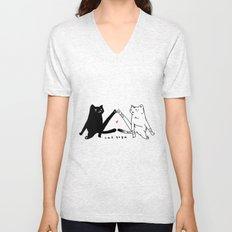 cat yoga Unisex V-Neck
