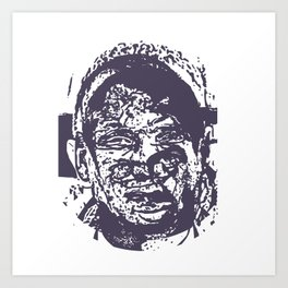 Faces, 4 Art Print