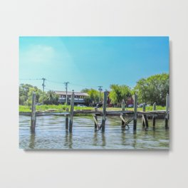 An Old Dock in the Historic Harbor Metal Print