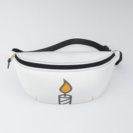 Candle in Design Fashion Modern Style Illustration Fanny Pack